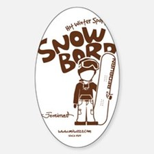 snowboarder_brown Decal
