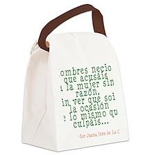hombresnecios copy Canvas Lunch Bag