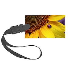 Ladybug on Sunflower Petal Luggage Tag