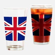 Brit Flag Btn2 Drinking Glass