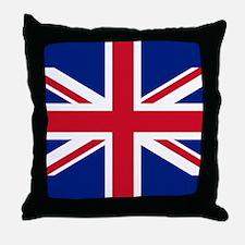Brit Flag Btn2 Throw Pillow