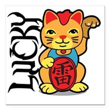 "luckycat3 Square Car Magnet 3"" x 3"""