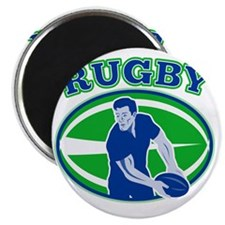 rugby passing front ball Magnet