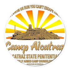 CAMP_ALCATRAZ Round Car Magnet