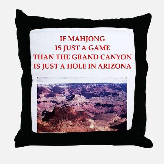 MAHJONG player Throw Pillow