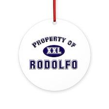 Property of rodolfo Ornament (Round)