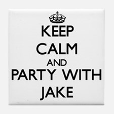 Keep Calm and Party with Jake Tile Coaster