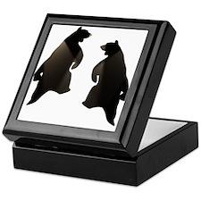 BLACK DANCING BEARS Keepsake Box