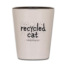 recycled cat copy Shot Glass