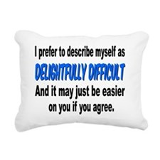 Difficult Rectangular Canvas Pillow