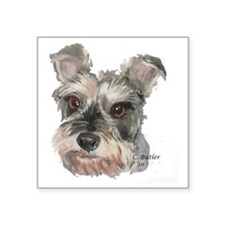 "Schnauzer Square Sticker 3"" x 3"""
