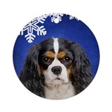 Cavalier king charles spaniels Round Ornaments