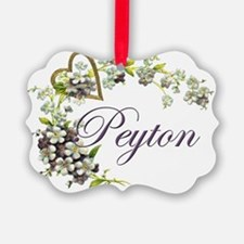 heart with flowers peyton Ornament