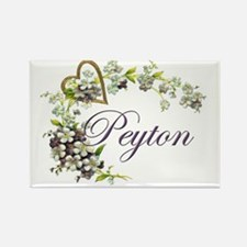 heart with flowers peyton Rectangle Magnet