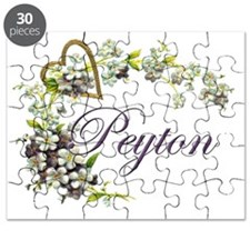 heart with flowers peyton Puzzle