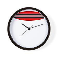 surfercrossing_white_cafepress Wall Clock