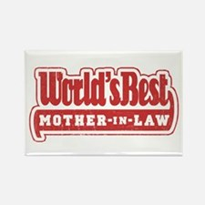 """""""World's Best Mother-in-Law"""" Rectangle Magnet"""