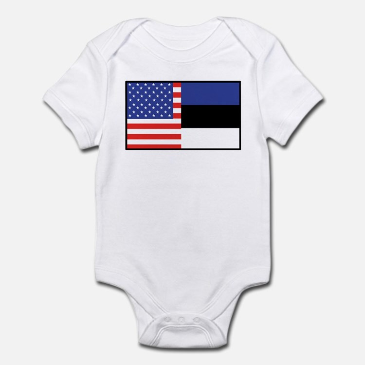 USA/Estonia Infant Bodysuit
