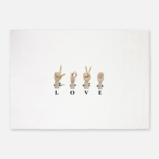 LoveAmeslan062511.png 5'x7'Area Rug