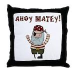 Ahoy Matey Pirate Throw Pillow