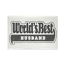 """World's Best Husband"" Rectangle Magnet"