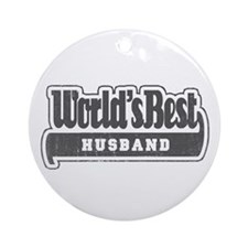 """World's Best Husband"" Ornament (Round)"