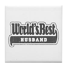 """""""World's Best Husband"""" Tile Coaster"""