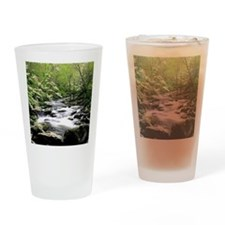 Smokey Mountains river and dogwoods Drinking Glass