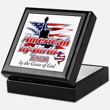 American by Birth (Texas) Keepsake Box