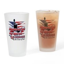 American by Birth (Oklahoma) Drinking Glass