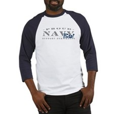 Proud Navy Brat (blue) Baseball Jersey