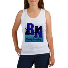 RN Really Naughty background Women's Tank Top