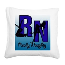 RN Really Naughty background Square Canvas Pillow