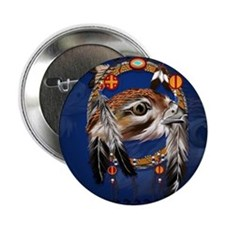 "DreamcatcherHawkFace 2.25"" Button"