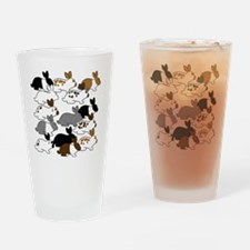 ManyBunnies3x5 Drinking Glass
