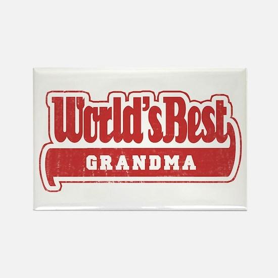 """""""World's Best Grandma"""" Rectangle Magnet"""