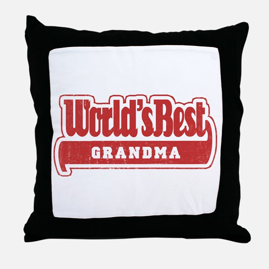 """World's Best Grandma"" Throw Pillow"