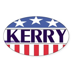 Kerry for President (oval bumper sticker)