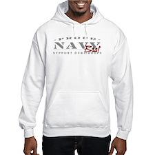 Proud Navy Brat (red) Hoodie