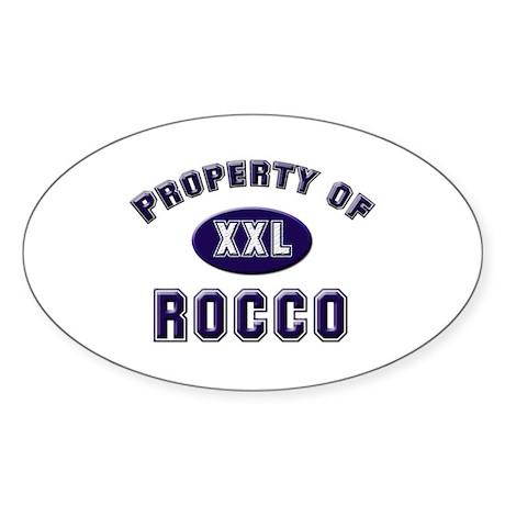 Property of rocco Oval Sticker