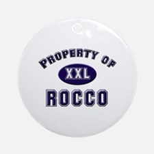 Property of rocco Ornament (Round)