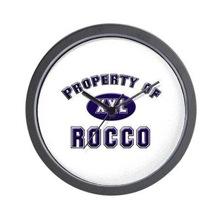 Property of rocco Wall Clock