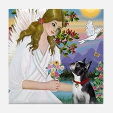 Angel Love - Boston Terrier (8x10) Tile Coaster