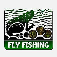FlyFishing Tshirt Mousepad