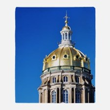 Iowa Capitol Dome Throw Blanket