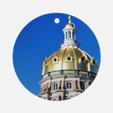 Iowa Capitol Dome Round Ornament