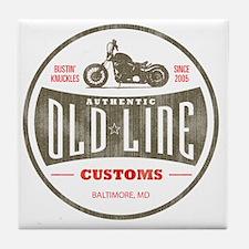 VintageOldLine Tile Coaster