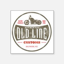 "VintageOldLine Square Sticker 3"" x 3"""