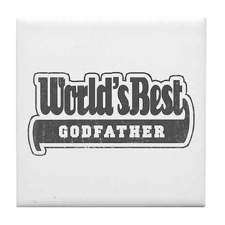 """World's Best Godfather"" Tile Coaster"