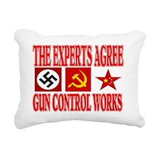 GUN CONTROL WORKS Rectangular Canvas Pillow